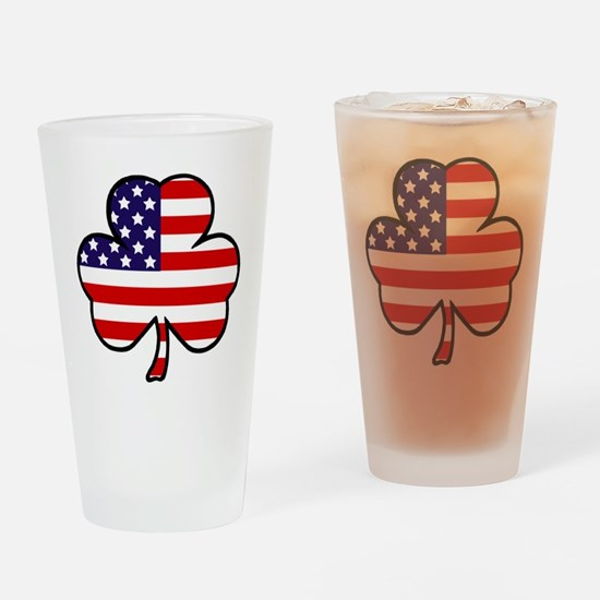 'USA Shamrock' Drinking Glass