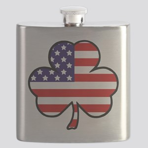 'USA Shamrock' Flask