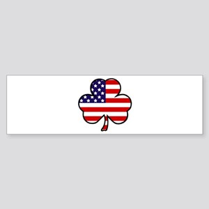 'USA Shamrock' Sticker (Bumper)