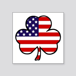 "'USA Shamrock' Square Sticker 3"" x 3"""