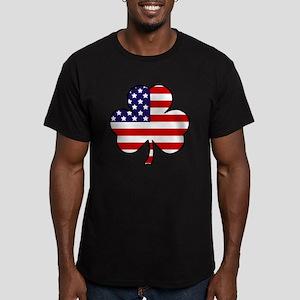 'USA Shamrock' Men's Fitted T-Shirt (dark)