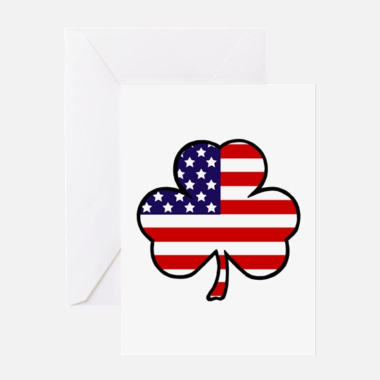 'USA Shamrock' Greeting Card