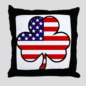 'USA Shamrock' Throw Pillow