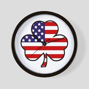 'USA Shamrock' Wall Clock