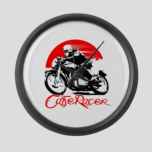 Cafe Racer Large Wall Clock