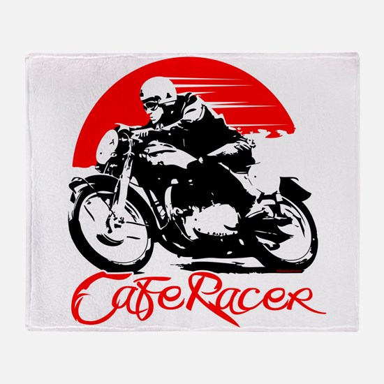 Cafe Racer Throw Blanket