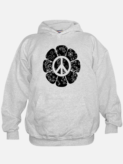 Peace Symbol Flower Hoody