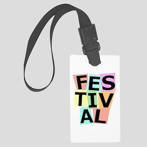 Festival II Large Luggage Tag