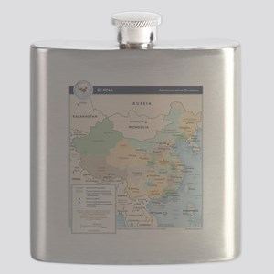 China Map Flask