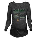 Touch Your Boobs Long Sleeve Maternity T-Shirt