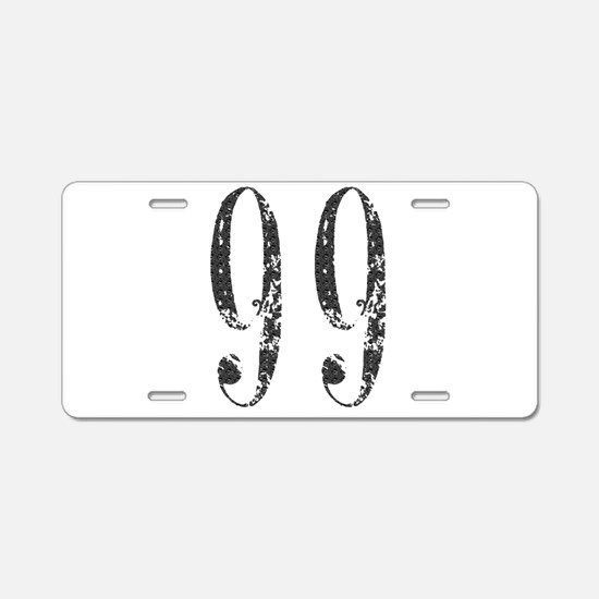 Number 99 Aluminum License Plate