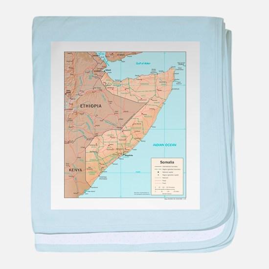 Somalia Map baby blanket