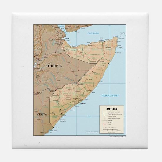 Somalia Map Tile Coaster