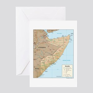 Somalia Map Greeting Card