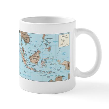 Indonesia Map Mug