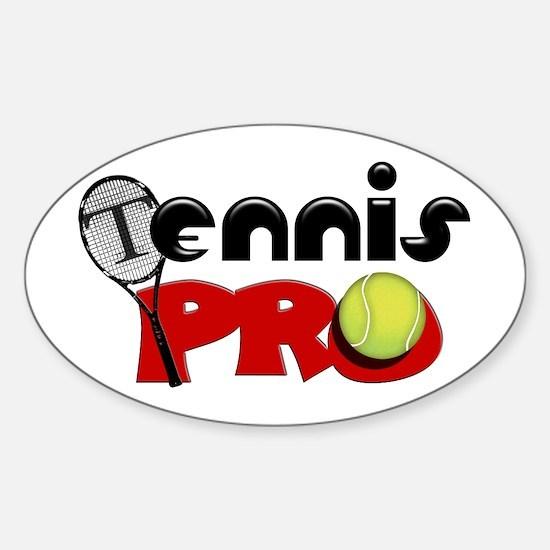 Tennis Pro Sticker (Oval)