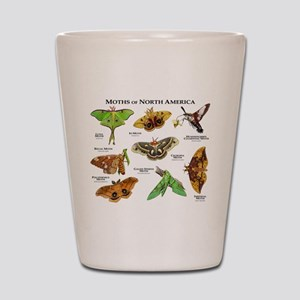 Moths of North America Shot Glass
