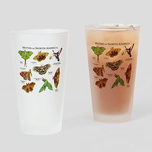 Moths of North America Drinking Glass