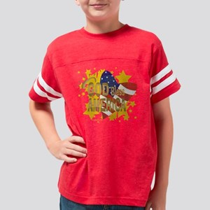 godbless_12x12 Youth Football Shirt