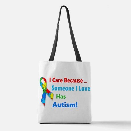 Autism Awareness Polyester Tote Bag