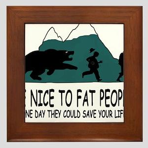 Fat people Framed Tile