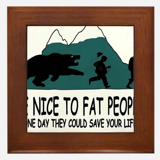 Fat people Framed Tile