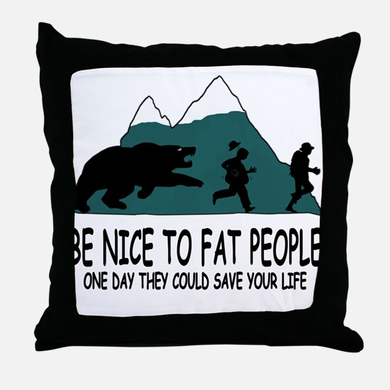 Fat people Throw Pillow
