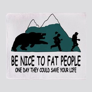 Fat people Throw Blanket