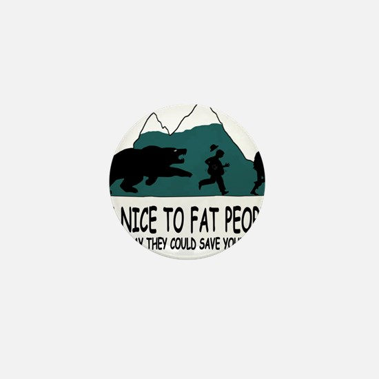Fat people Mini Button