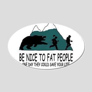 Fat people Wall Sticker