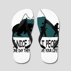 75f045990b3a2a Funny Exercise Flip Flops - CafePress