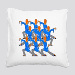 In The Flow Square Canvas Pillow