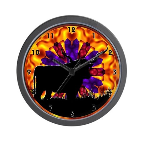Texas Longhorn Wall Clock