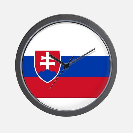 Flag of Slovakia Wall Clock