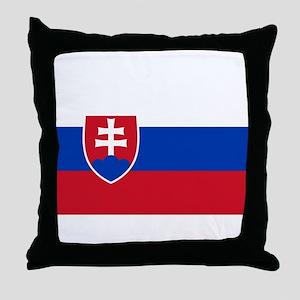 Flag of Slovakia Throw Pillow