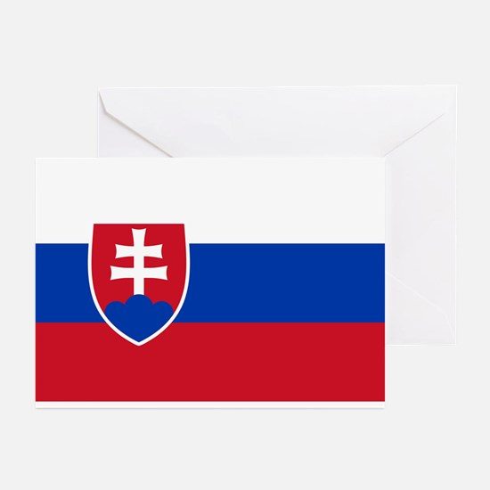 Flag of Slovakia Greeting Cards (Pk of 10)