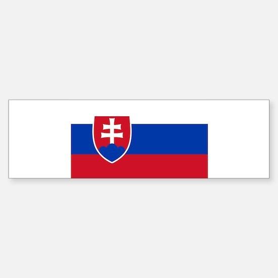 Flag of Slovakia Bumper Car Car Sticker