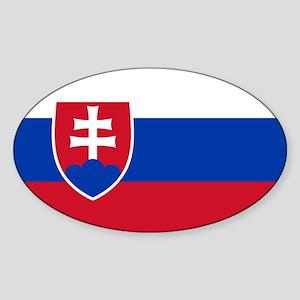 Flag of Slovakia Oval Sticker