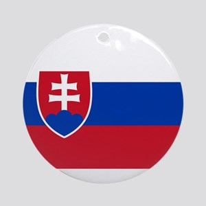 Flag of Slovakia Ornament (Round)