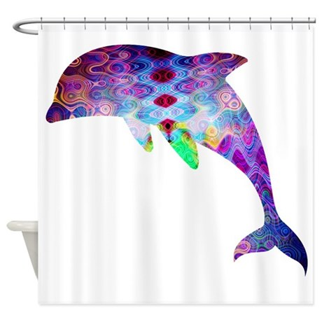 Gentil Dolphin Shower Curtain