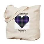 Heart - Cameron of Erracht Tote Bag