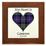 Heart - Cameron of Erracht Framed Tile