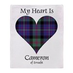 Heart - Cameron of Erracht Throw Blanket
