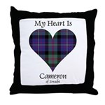 Heart - Cameron of Erracht Throw Pillow