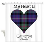Heart - Cameron of Erracht Shower Curtain