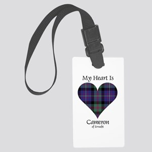 Heart - Cameron of Erracht Large Luggage Tag