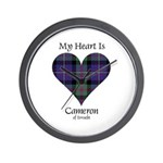 Heart - Cameron of Erracht Wall Clock