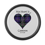 Heart - Cameron of Erracht Large Wall Clock