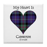 Heart - Cameron of Erracht Tile Coaster