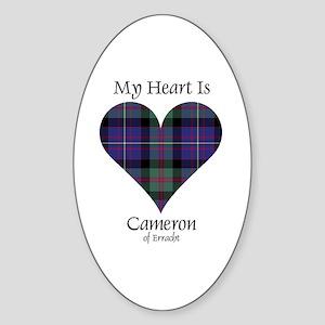 Heart - Cameron of Erracht Sticker (Oval)